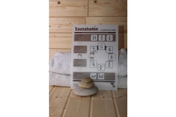 Sauna Baderegeltafel