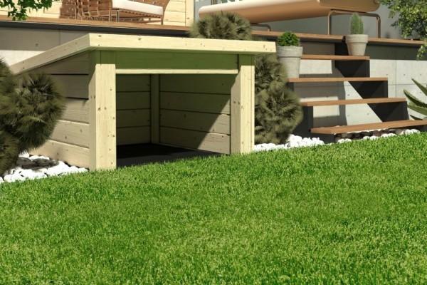 Woodfeeling Garage für Mähroboter Pultdach